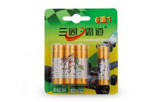 三圈霸道5号特强碱性电池-6只装