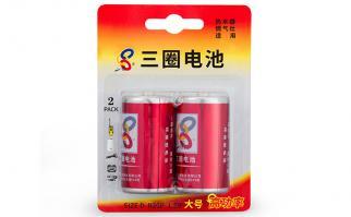 三圈电池大号碳性干电池-2只装